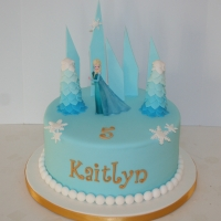 Elsa theme cake with gold details
