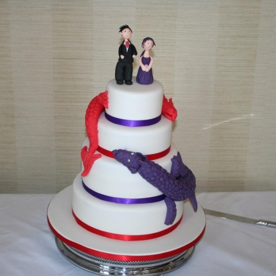 Dragon Theme Wedding Cake