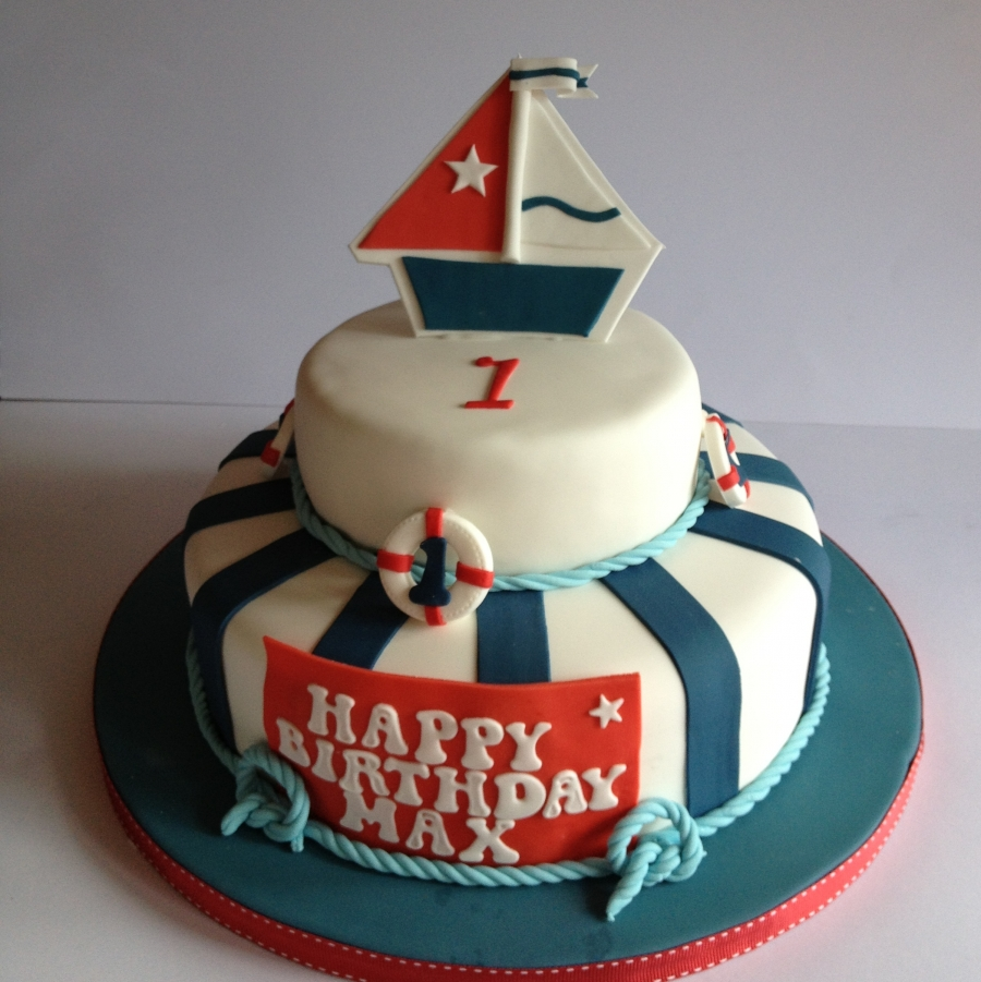 Astonishing Nautical Cake Personalised Birthday Cards Sponlily Jamesorg