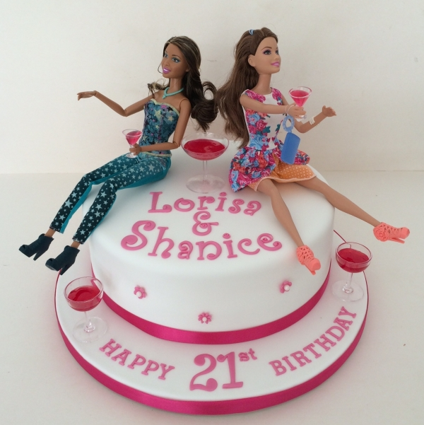 Drunk Barbie twins cake