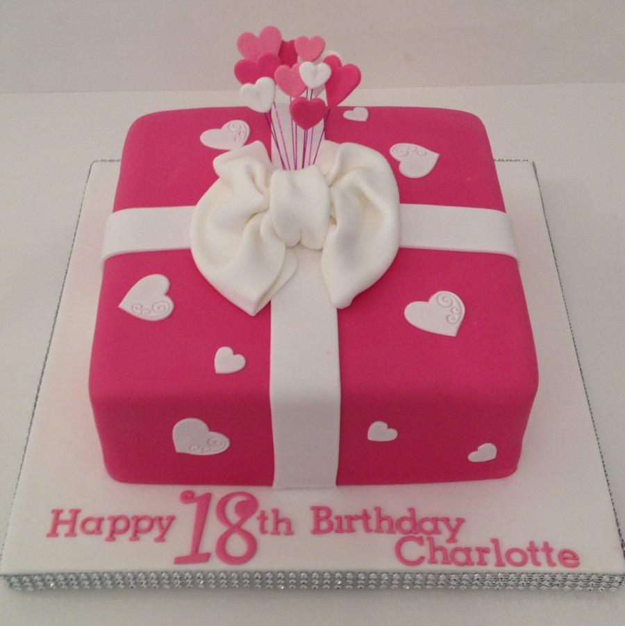 Prime Pink Present Cake Funny Birthday Cards Online Chimdamsfinfo