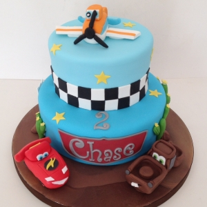 Planes & Cars birthday cake