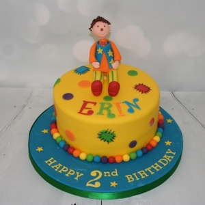Mr Tumble theme cake