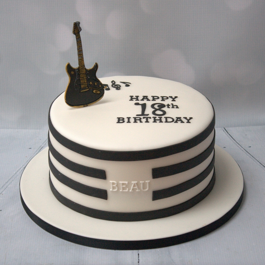 Black Amp White Guitar Cake