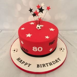 SUFC themed 80th birthday cake