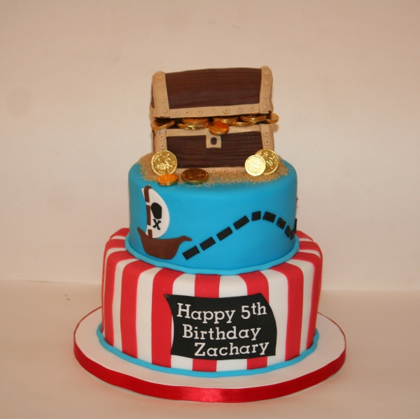 Pirate theme cake - 2 tier