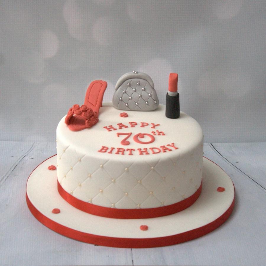 Shoe Handbag Lipstick Cake