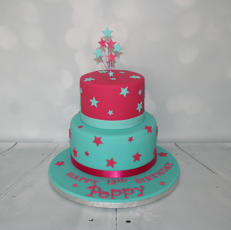 Pink Jade 2 Tier Birthday Cake