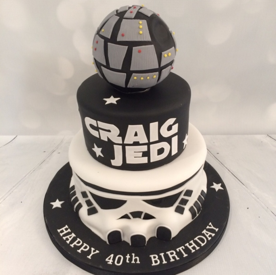 3 Tier Star Wars Theme Cake