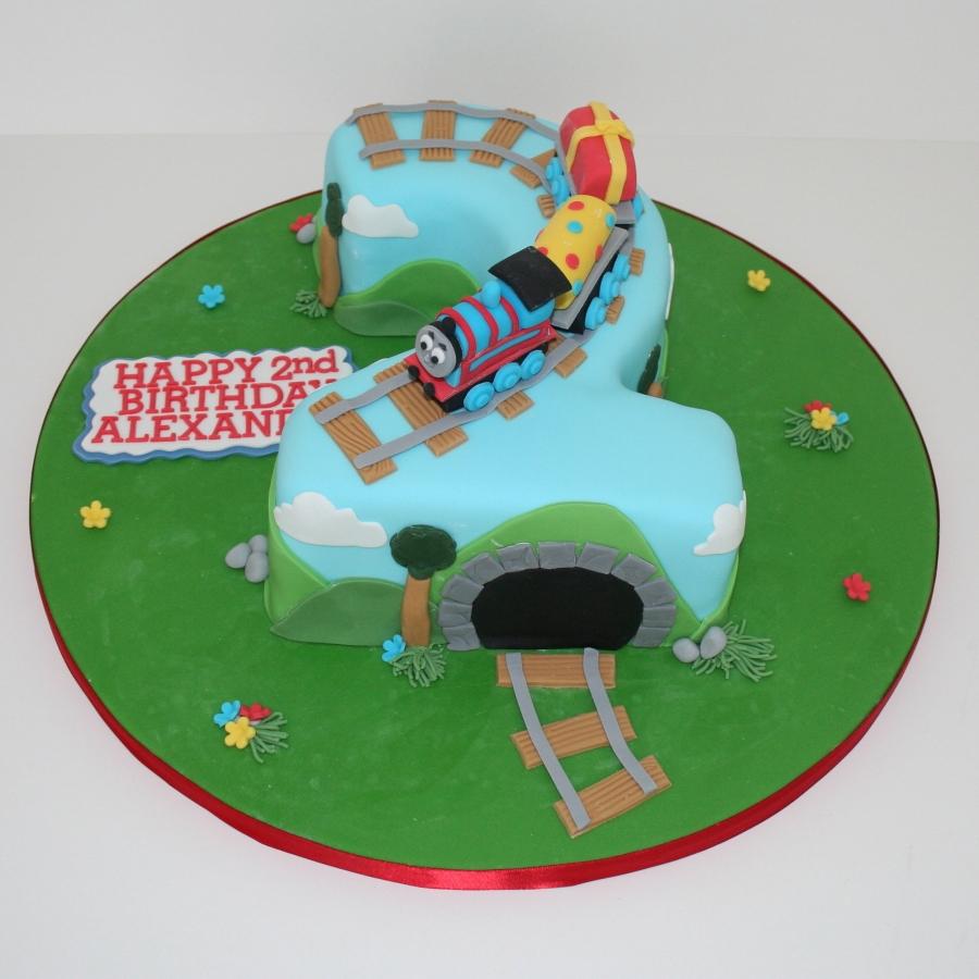 Cake Designs Number 2 : Thomas the Tank Engine No. 2 cake