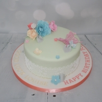 Candy colours celebration cake