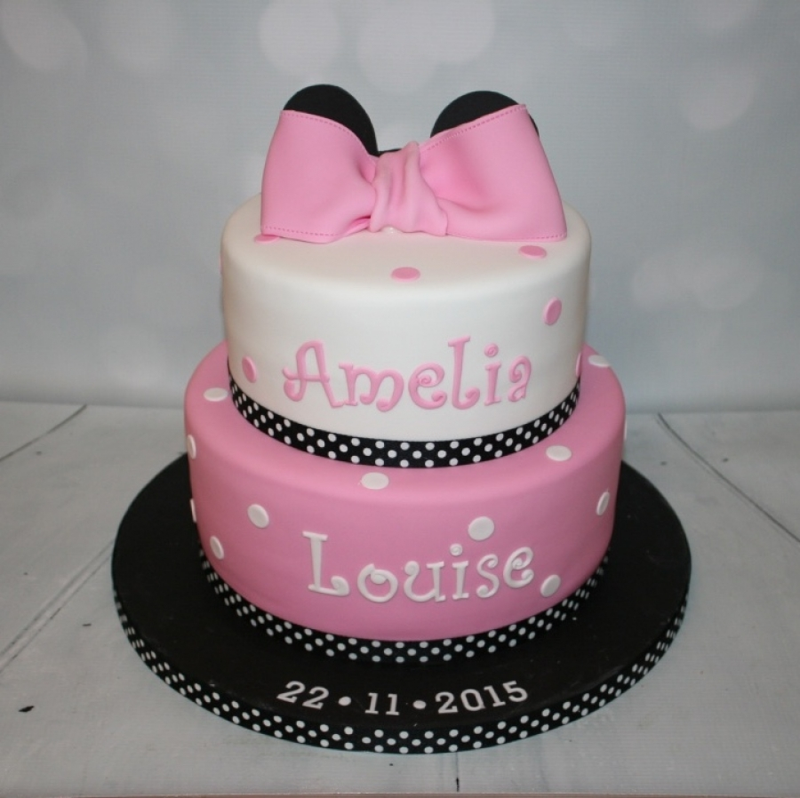 Minnie Mouse christening cake