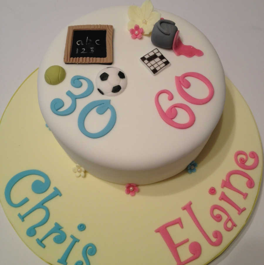 Joint Christening Birthday Cakes