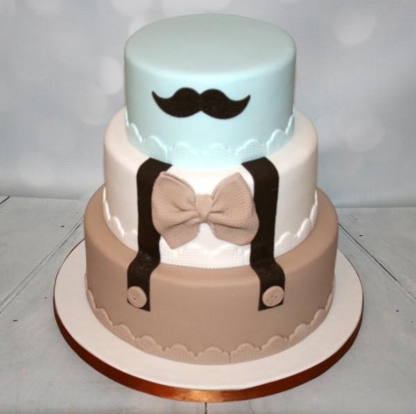 three tier 39 little man 39 cake