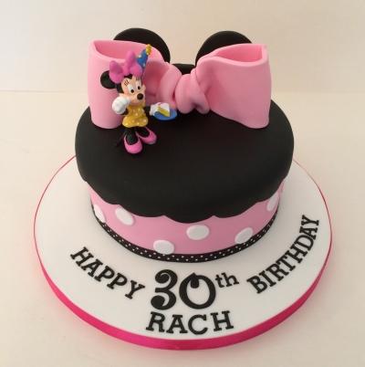 Minnie Mouse Theme Single Tier Cake