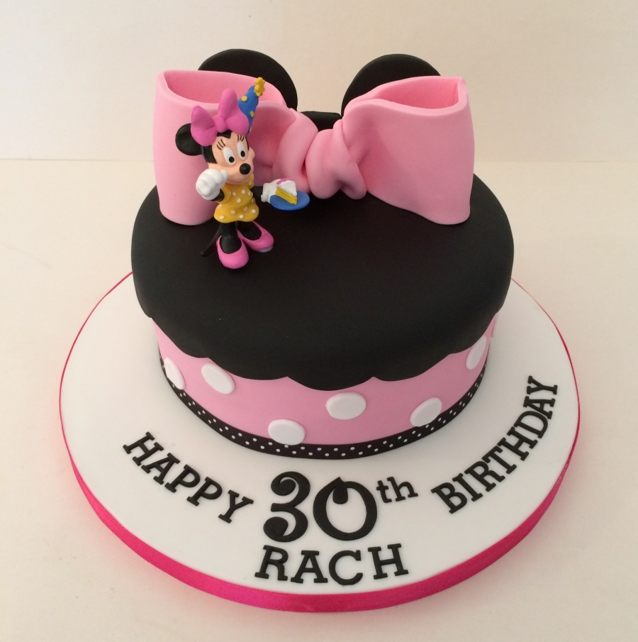 Minnie Mouse theme single tier cake