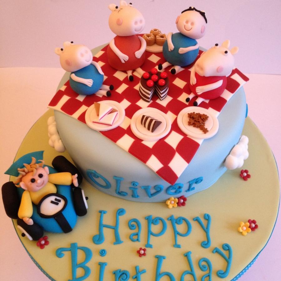 Peppa pig car cake