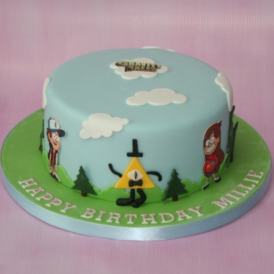 Gravity Falls themed cake
