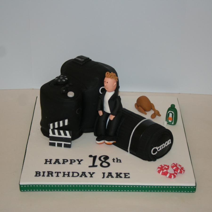 Stupendous Camera Interests Cake Front View Personalised Birthday Cards Vishlily Jamesorg