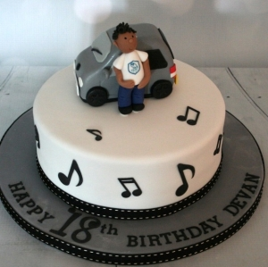 Car & music themed 18th birthday