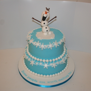 Frozen theme wedding cake