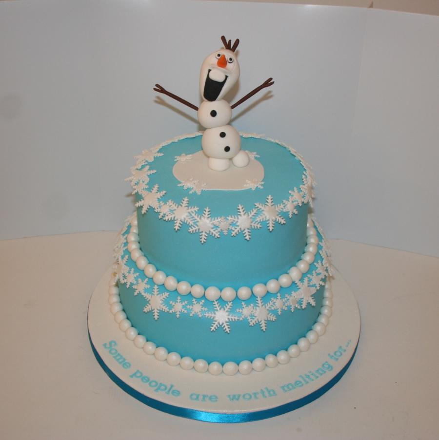 Frozen Theme Wedding Cake