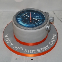 Small watch theme cake