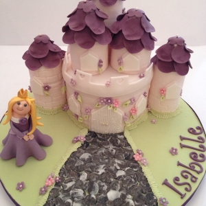 Princess and Castle cake