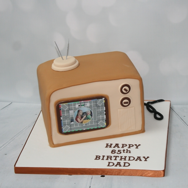 Old fashioned TV cake