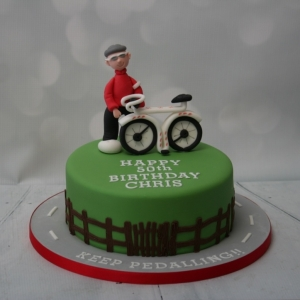 Keep Pedalling! Cycling themed cake