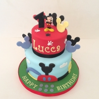 Two tier Mickey Mouse Clubhouse cake