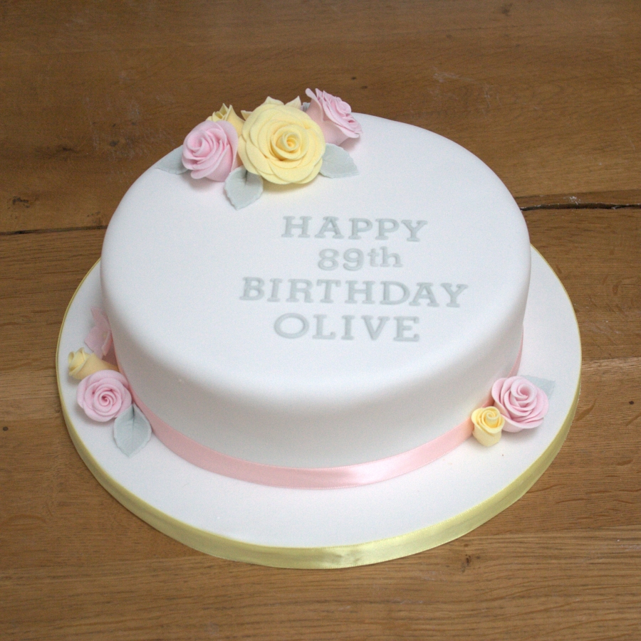Fabulous Pink Yellow Roses Fruit Cake Funny Birthday Cards Online Ioscodamsfinfo