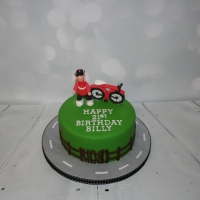 Red bicycle cake