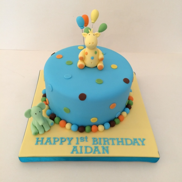 Sweet at One cake - blue