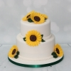 Sunflower cake - 2 tier