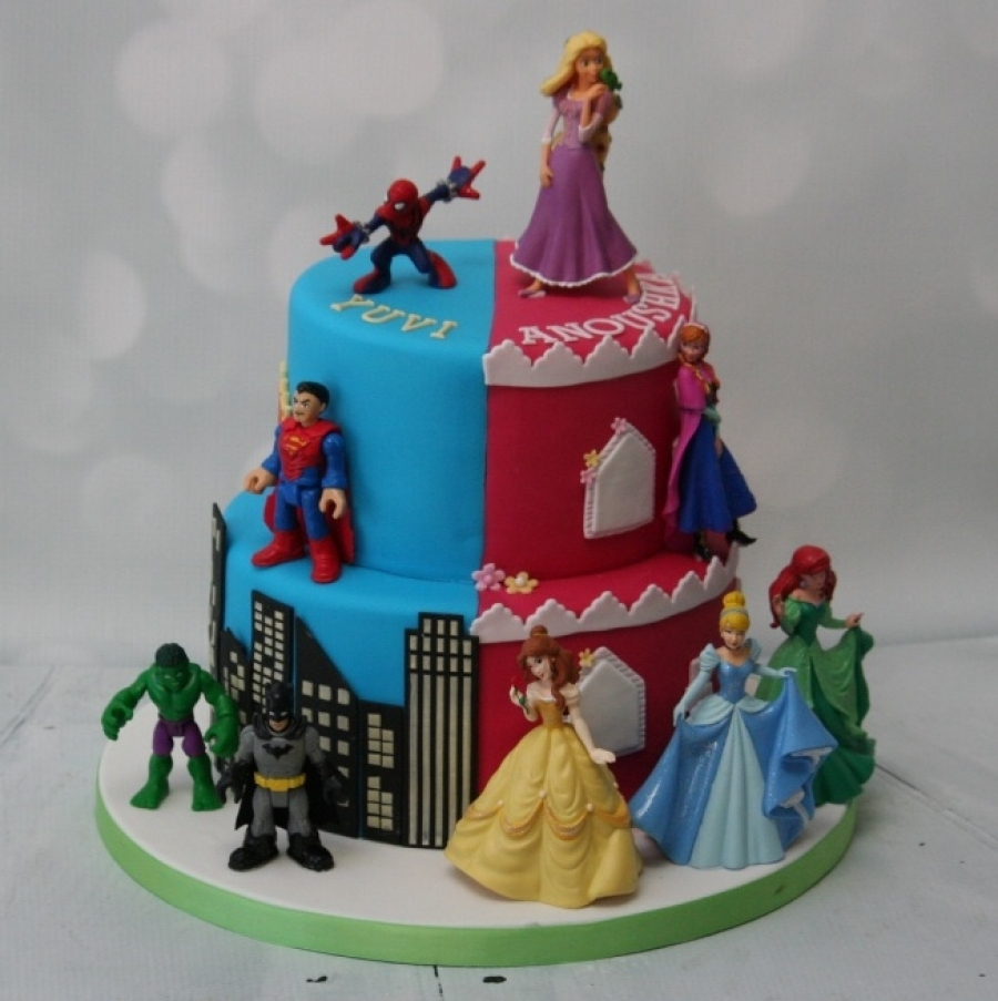 Superhero Princess Cake