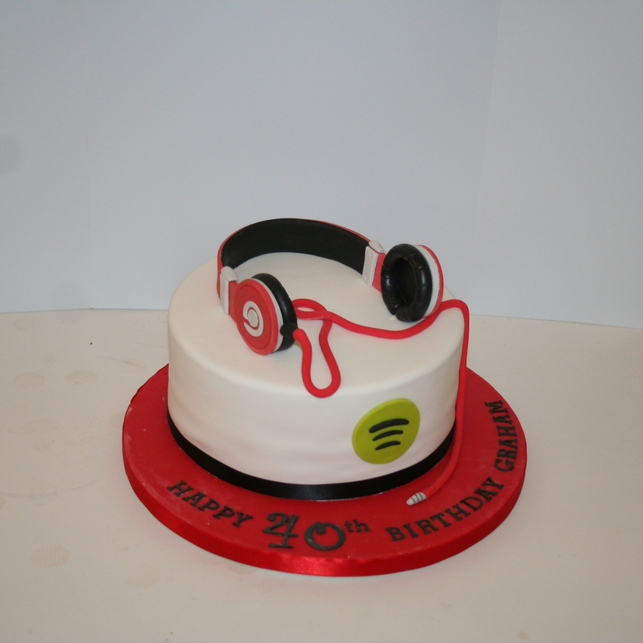 Headphones Themed Cake