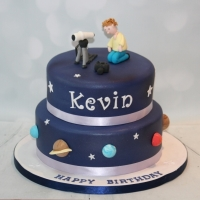 Astronomy themed cake