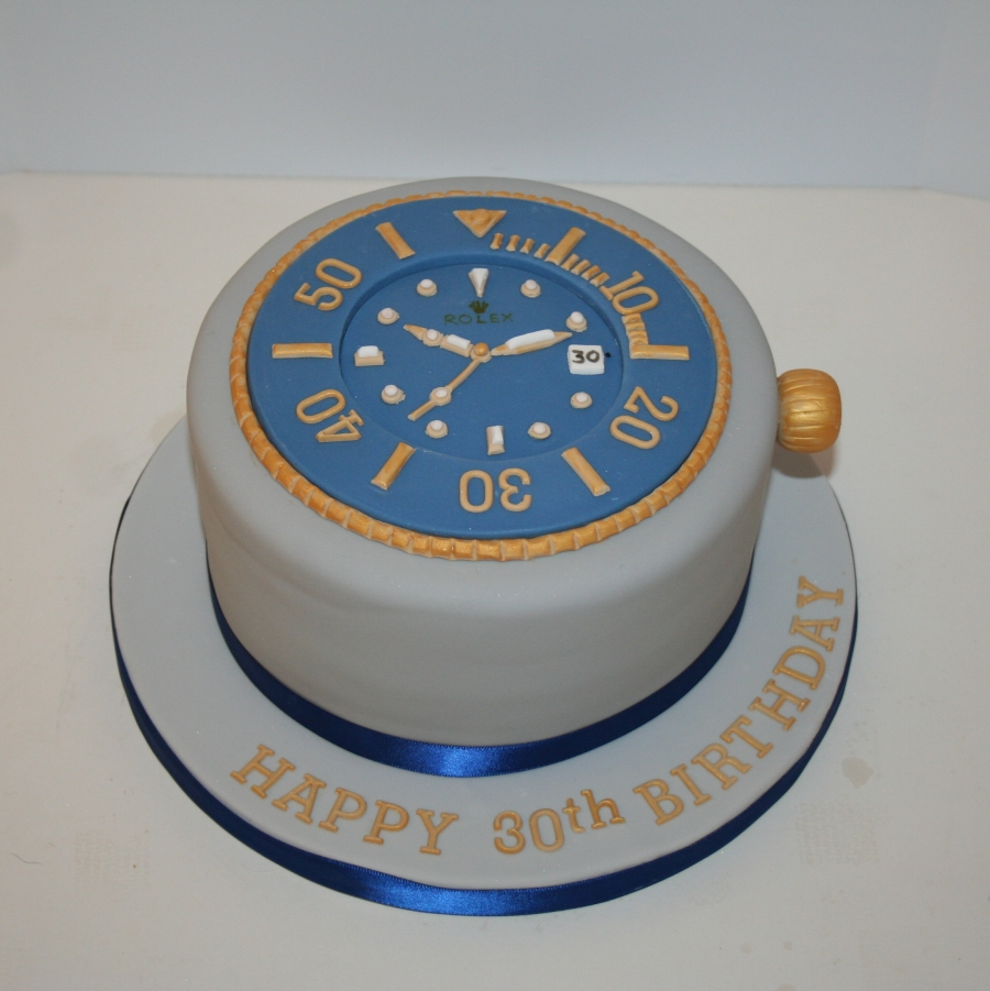 Stupendous Rolex Watch Cake Personalised Birthday Cards Arneslily Jamesorg