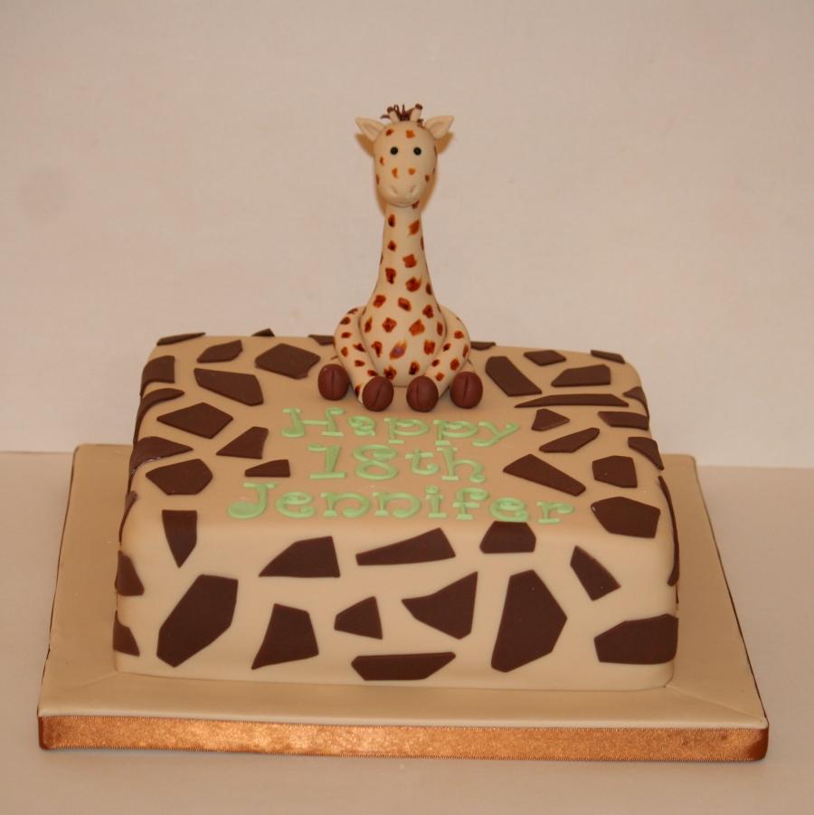 Giraffe Theme Cake