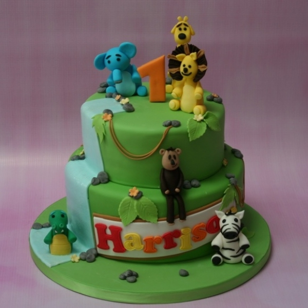 Raa Raa The Noisy Lion - 2 tier cake