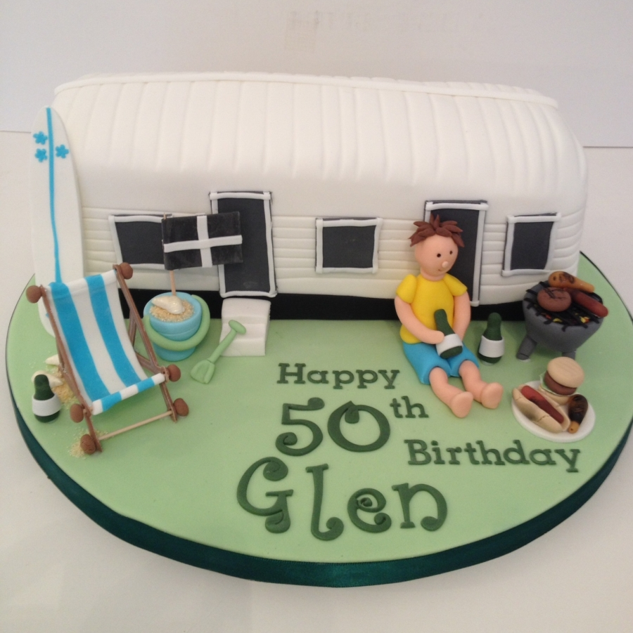 Cornwall Themed Caravan Cake