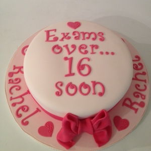 Girly celebration cake