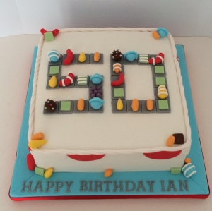 Candy Crush theme cake - 50th birthday