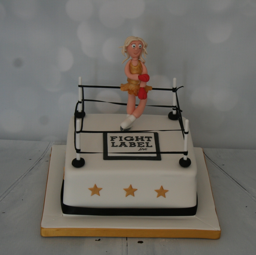 Fight Label Boxing Ring Cake