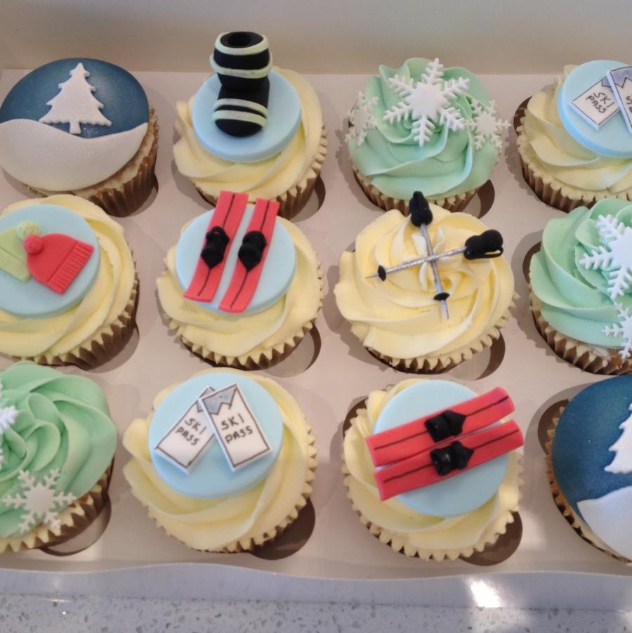 Ski Theme Cupcakes