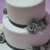 Silver and grey wedding flower close up 2