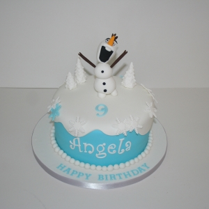 Olaf 9th birthday cake